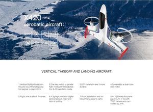 Image 5 - XK X420 2.4G 6CH 420mm 3D6G VTOL Vertical Take off And Landing EPP 3D Aerobatic FPV RC Airplane RTF Remove Control Toys