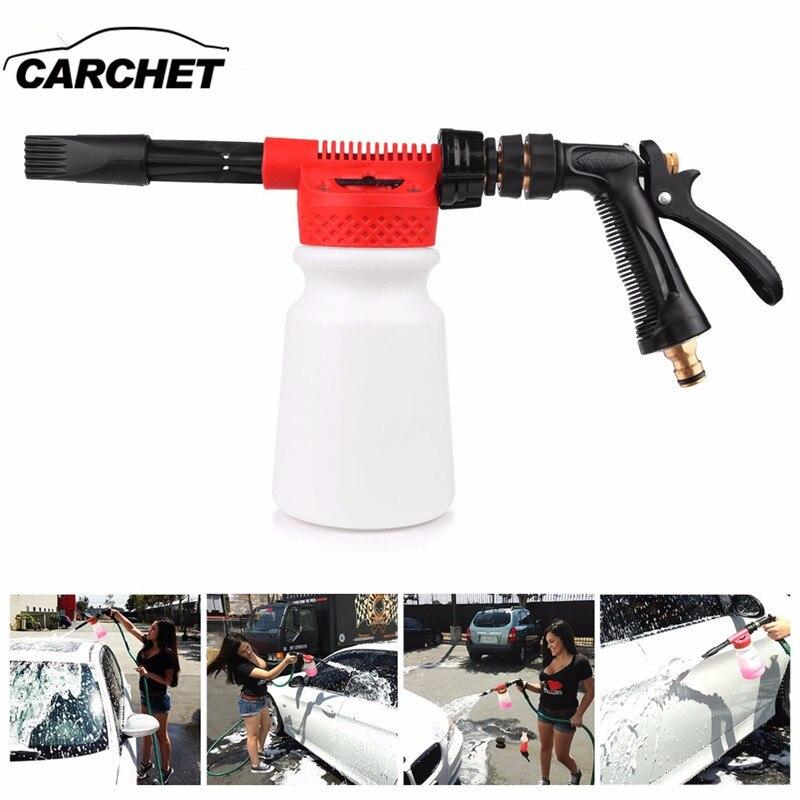 CARCHET Car Washing Foam Gun Car Cleaning Washing Snow Foamer Lance Car Water Soap Shampoo Sprayer Foam Gun for Car Motorcycle