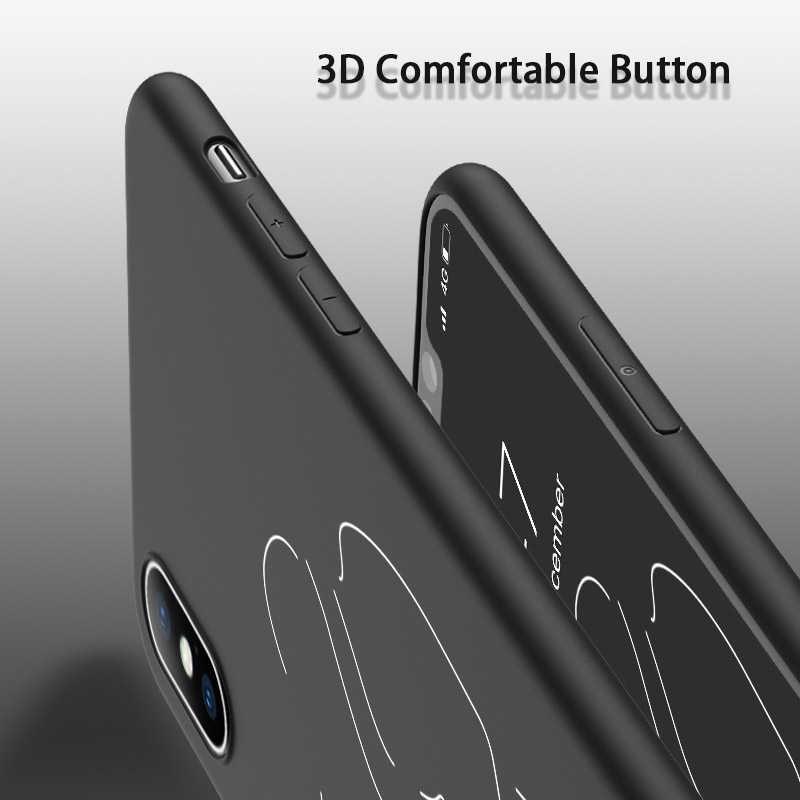 Lovebay para iphone 11 pro max 6s 7 8 plus x xr xs max 5 5S se telefone caso dos desenhos animados estátua arte abstrata pintado macio tpu escudo