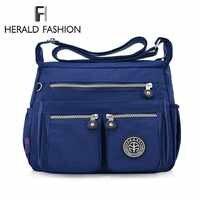 Bolso de mensajero de Nylon impermeable de moda Herald para mujer bolso de hombro pequeño de calidad para mujer bolsos de bandolera para mujer bolsos de mano Bolsa saco