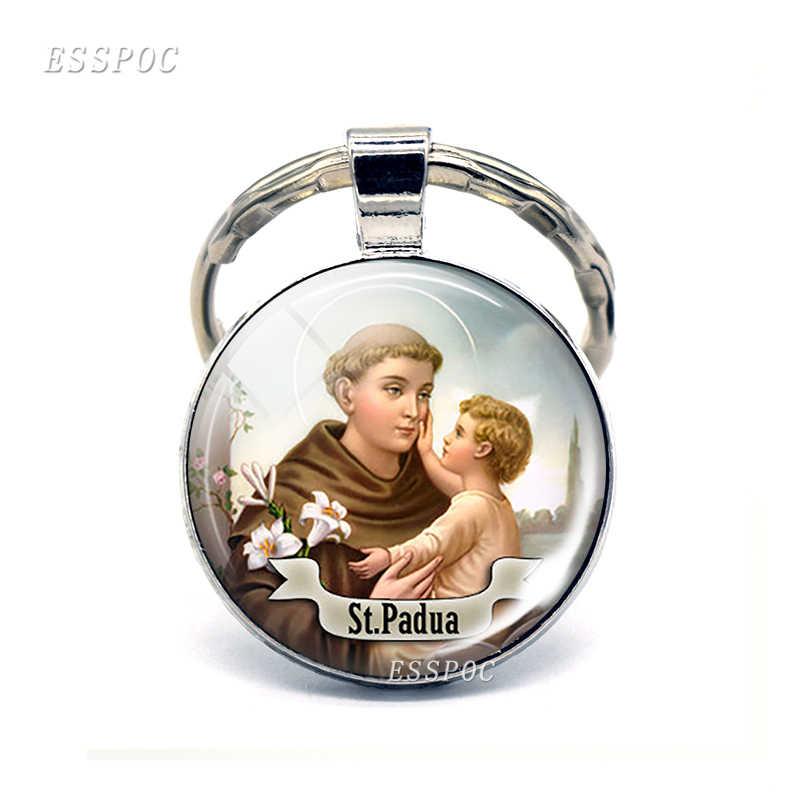 Брелок St Anthony брелок со Святым приносить любовь вашей жизни медаль ювелирные изделия подарок религиозный кабошон религиозный ювелирный брелок