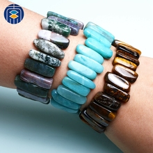 JuleeCrystal Trendy Stone Beads Bracelet Wholesale Irregular Stone Bangle For Women and Men Lucky Gifts juleecrystal natural amethyst stone beads bracelet fine jewelry wholesale gemstone bracelet for woman gifts