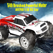 Newest 1:18 WLtoys A979B Truck 2.4G 4WD RC Car 70KM/h High Speed Off-Road Racing Buggy Truck Toys Remote Control Car Power Motor(China)