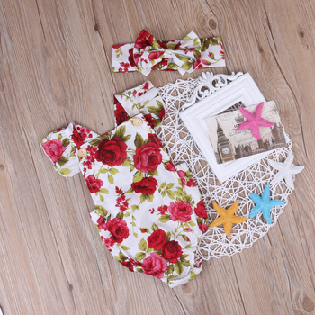 Baby-Girl-Clothes-Flower-Jumpsuit-Romper-Headband-Outfits-Clothes-Set