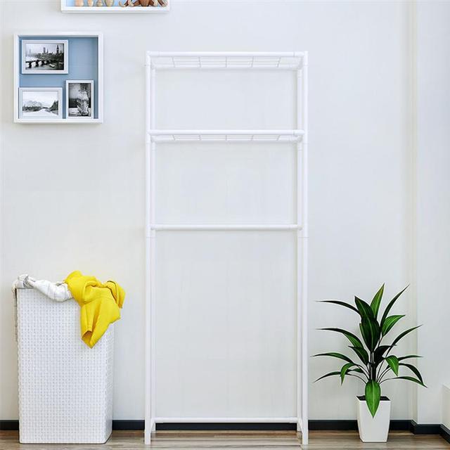 화장실 보관 랙 이상 단단한 녹슬지 않는 미끄럼 방지 3 층 디스플레이 랙 스토리지 선반 스토리지 랙 화장실 욕실