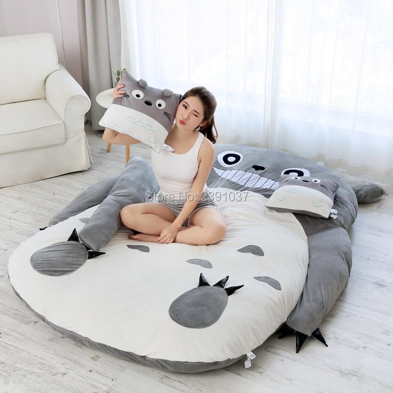 180x120 cm Mon Voisin Totoro Tatami Dormir À Double Lit Pouf Canapé Pour Enfants Chaud de Bande Dessinée Tatami de Couchage Sac matelas