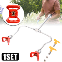 Professional Airless Paint Spray Gun Extension Pole with Double Nozzle Heads Powerful Painting Tool
