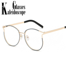 36f4be60d Retro Round Glasses Frame Brand Designer Vintage Fake Glasses Women Men Cat Eye  Optical Eyeglasses Frames