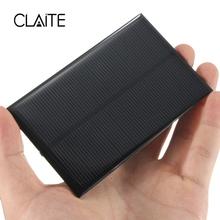 Claire hurtownie 5V 1 25W 250mA Panel słoneczny krzem monokrystaliczny epoksydowa DIY ogniwa słoneczne modułem do bateria do telefonu komórkowego ładowarka tanie tanio CLAITE 11 x 7cm 839799 Monokryształów krzemu