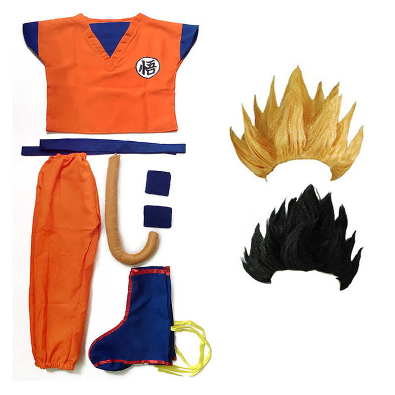 Anime Dragon Ball Z Son GoKu Fancy Dress Adult Child Halloween Costume