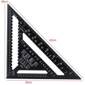 Image 4 - 12Inch Speed Vierkante Metrische Aluminium Driehoek Heerser Pleinen Voor Meetinstrument Metrische Hoek Gradenboog Houtbewerking Gereedschap