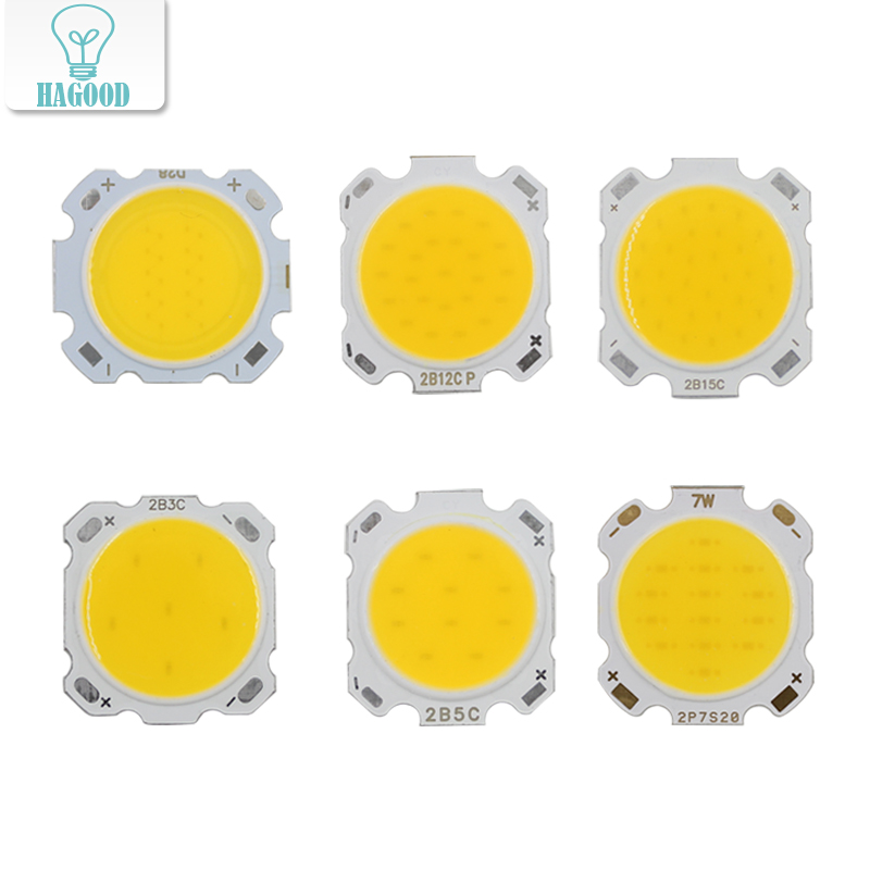 10PCS LED COB Chip 3W 5W 7W 10W 12W 15W Cold / Warm White Light Bulb 28mm Diameter For DIY Floodlight Spotlights Fixtures