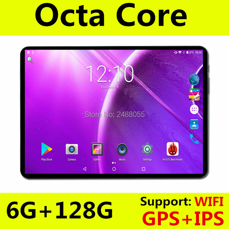 2019 New Model 4G FDD LTE 10 Inch Tablet Octa Core Android 8.0 Media Pad 6GB RAM 64GB ROM Dual SIM Card Wifi GPS Pad