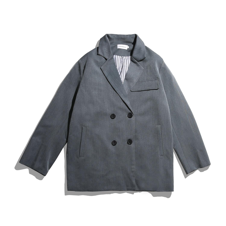 Весна, Мужская Новая продукция, высокое качество, пиджаки, свободные пальто, верхняя одежда для отдыха, черный/хаки/серый цвет, блейзер, размеры s-xl