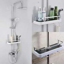 Прямоугольник из нержавеющей стали, органайзер для ванной комнаты, полки для душа, стеллаж для хранения, держатель для шампуня, лоток для ванной комнаты, одноуровневый держатель для головы