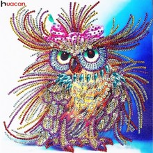 Huacan Special Shaped Diamond Painting Owl Handicraft Needlework 3d Drill Mosaic DIY Embroidery Animal 34x44cm
