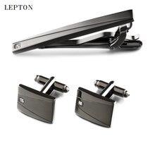 Классические деловые квадратные черные мужские запонки lepton