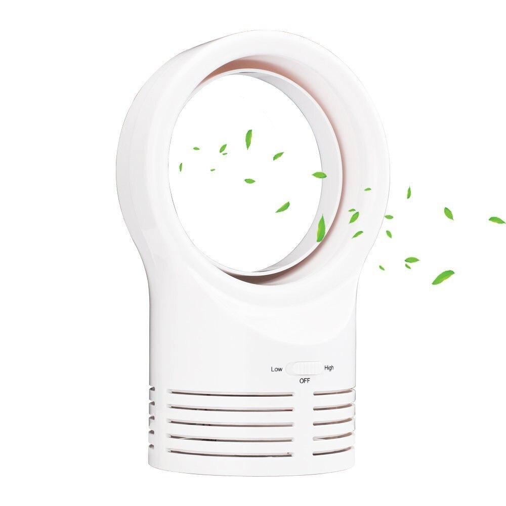 Mini Bladloze Ventilator Draagbare Ventilator-thuis En Kantoor Veilig Elektrische Ventilator Voor Werk/lear/slaap (wit)