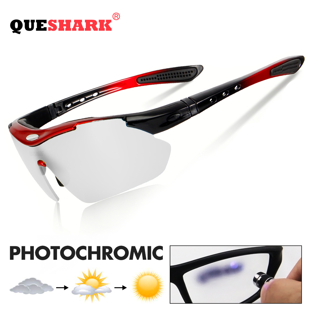 QUESHARK Classic Style Photochromic Cycling Glasses MTB Goggles Cycling Eyewear Bicycle Sunglasses Polarized Cycling GlassesQUESHARK Classic Style Photochromic Cycling Glasses MTB Goggles Cycling Eyewear Bicycle Sunglasses Polarized Cycling Glasses