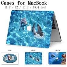 ラップトップのためのノー macbook 13.3 インチ 15.4 の Macbook ケースエアー Pro の網膜 11 12 スクリーンプロテクターキーボード入り江