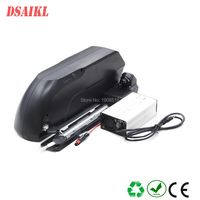 Long range light weight 500W electric bike battery 36V 20Ah 21Ah white color shark battery pack with charger