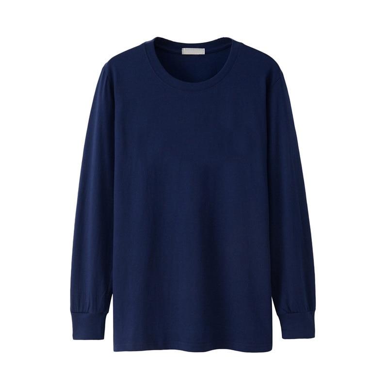 Men Tshirt Long Sleeve Full Winter Autumn Plus Size Big Xxxxl 5XL 6XL Casual Plain T-shirts Male Cotton Oversized T Shirt Black