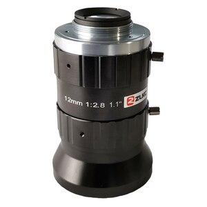 """Image 4 - 20 מגה פיקסל 12mm 1.1 """"F2.8 שלה/FA נמוך עיוות עדשה קבועה מוקד אורך C הר תעשייתי מצלמה ידנית איריס טלוויזיה במעגל סגור עדשה"""