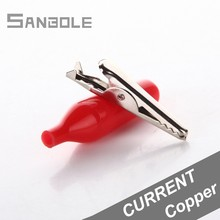 Large Soft Alligator Clip 44.5mm Copper Crocodile Copper Wire Electric Crocodile Electrical Clamp for Testing Probe (50PCS) electrical probe testing lead wire hooks yellow 20 pack