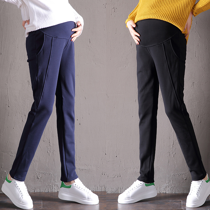 Maternity Pants&Capris Maternity Business Wear Pregnancy Pants OL Style Trousers For Pregnant Women Pregnancy Pants For Work(China)