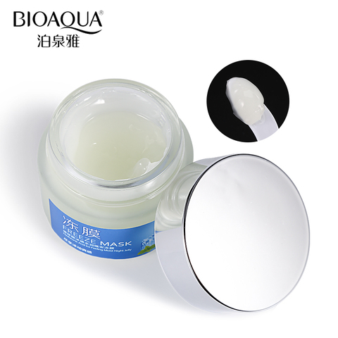 BIOAQUA Hyaluronic Acid Mint Coolness Moisturizing Sleep Facial Mask Moisturizer Nourish Anti-Aging Facial Night Cream Skin Care Lahore
