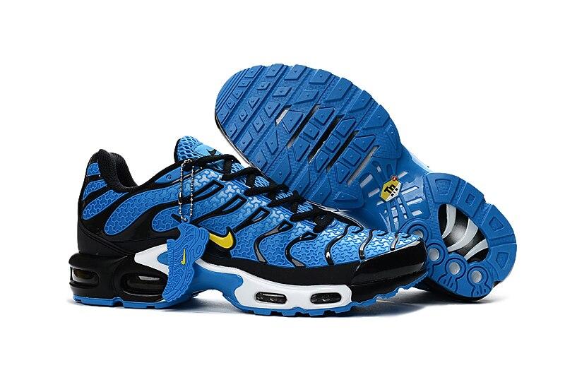 Nueva llegada oficial NIKE AIR MAX TN transpirables de los hombres corriendo Zapatos Deportivos plataforma KPU material directo zapatos 40 -46