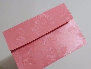 Image 3 - White Floral Embossed Envelope Invitation Gift Envelopes