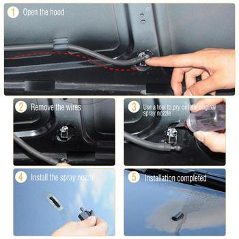 2-Pack Fan Shaped Water Spray Windshield Wiper Jet Washer Nozzle With Rubber Gasket Car Accessories For Ford Focu 2 Mk2 Mk3 1