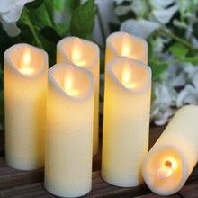 Светодиодный электронный беспламенный Свинг свечи огни на батарейках для вечерние, свадьбы, дня рождения, фестиваля романтический ужин Декор