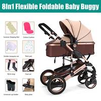 8 в 1 четыре колеса люльки складной новорожденный четыре сезона детская коляска Путешествия коляска Детские коляски коляска подарок