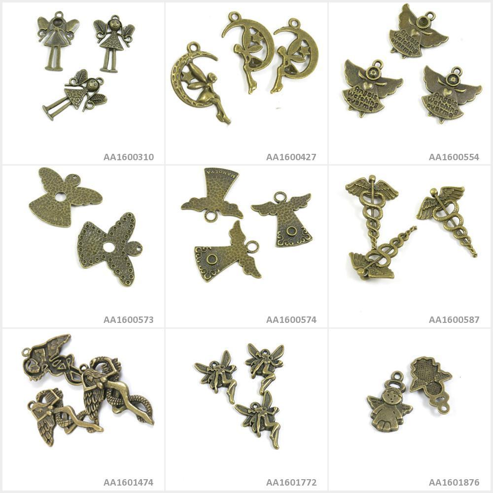 Antique Bronze Tone Jewelry Charms Leaf Crafting Leaves Bracelet Craft Making
