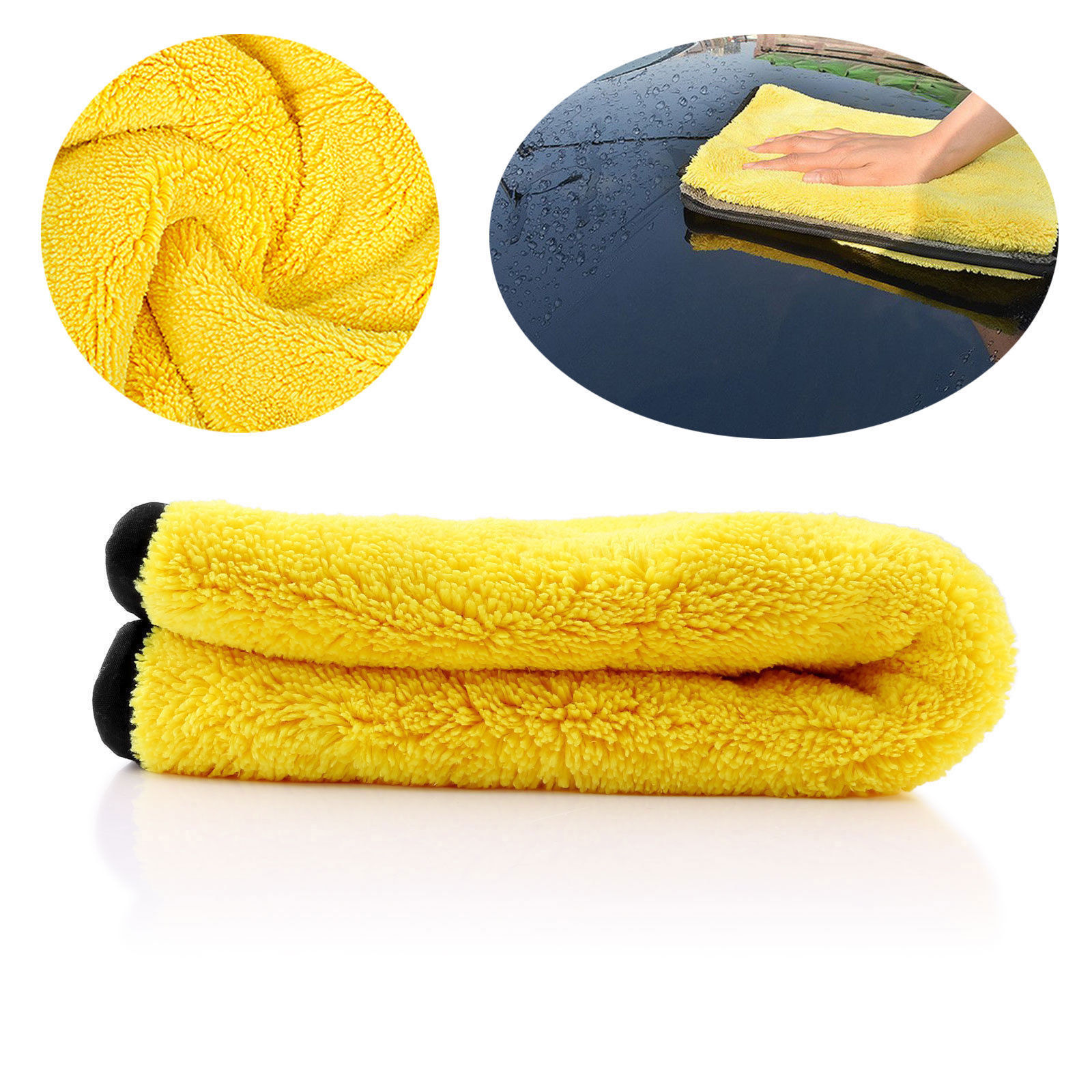 4 Size Super Absorbent Car Wash Cloth Microfiber Towel Cleaning Drying Cloths Rag Detailing Car Towel Car Care Polishing 6