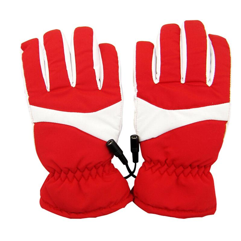 1 Pair Waterproof Heated Gloves Washable Rechargeable Lithium Battery For Biking Motorcycle Hunting Winter Warmer