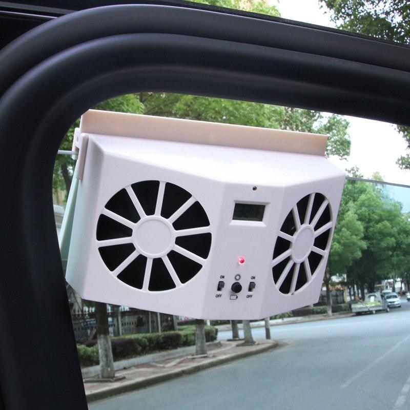 Car Fan Solar Energy Cooling Vent Exhaust Portable Auto Ventilator Car Cooler Ventilation Fan Dual Mode Power Supply