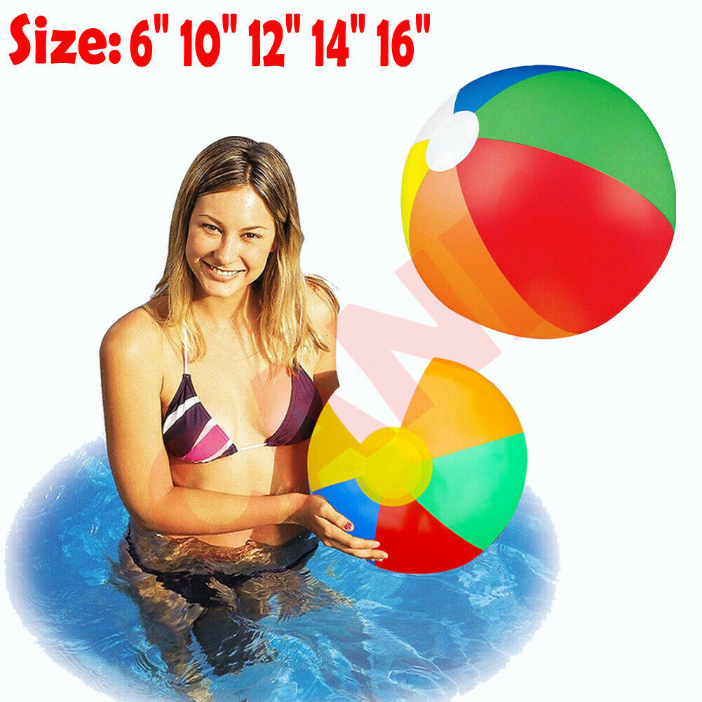 Classic Toys Bath Toy Forceful 2019 Pudcoco Inflatable Blowup Beach Ball 6~16 Inch Holiday Party Swimming Pool Game Party Toy Dependable Performance