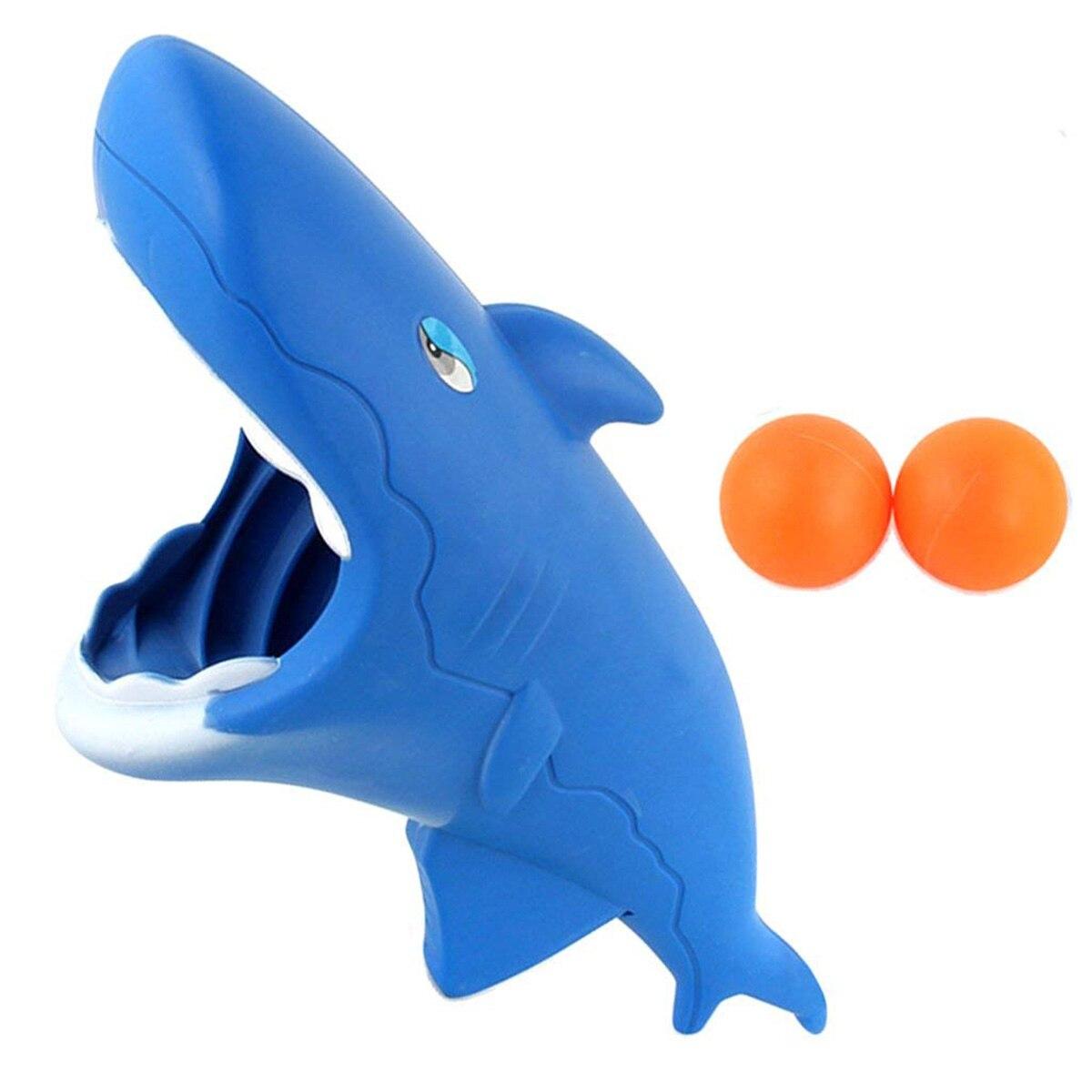 1 Satz Shark Modellierung Katapult Starten Butt Springenden Ball Spielzeug Für Kinder Starten Und Fangen Ball Spielzeug