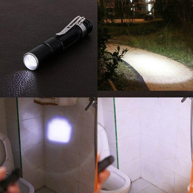 YENI Taşınabilir Mini Penlight Q5 2000LM Led el feneri Torch cep lambası Su Geçirmez Fener AAA Pil Güçlü Avcılık Için Led
