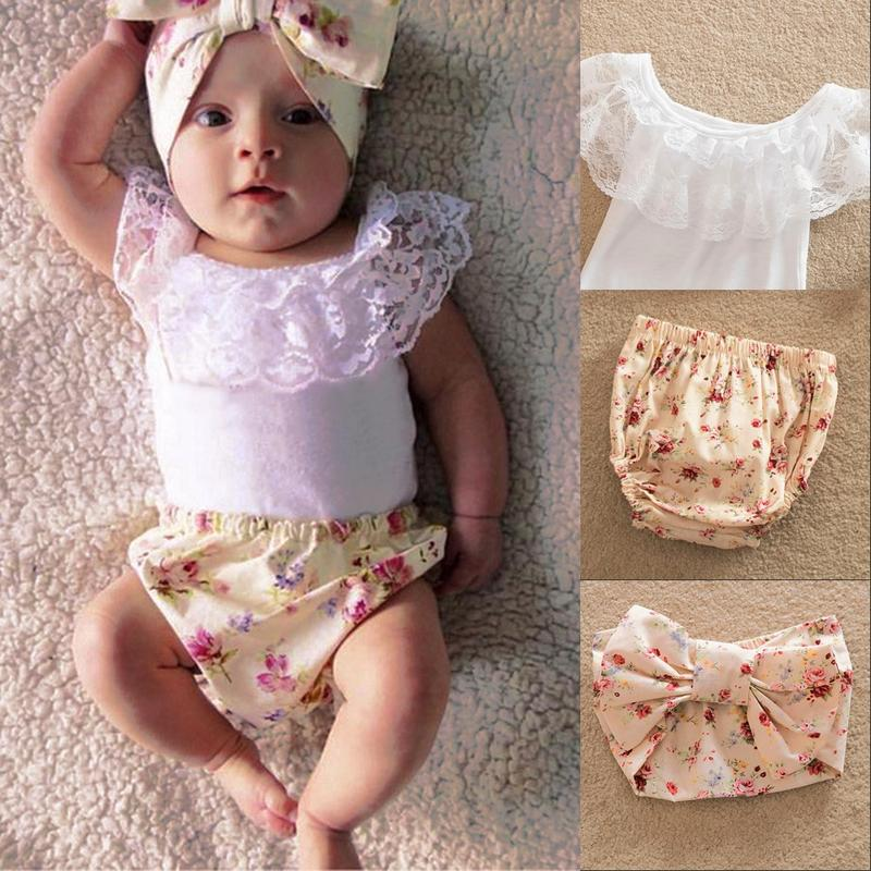 Baby Suit Pp-Pants Lace-Fly-Sleeve New And Summer Vest Headband The-United-States Three-Piece