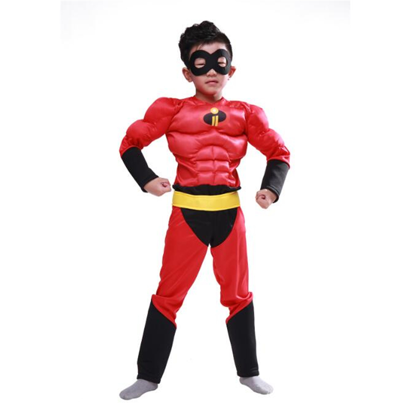 The Incredible Kid Muscle Cosplay The Fastest Dash Classic Child Boys Superhero Costume