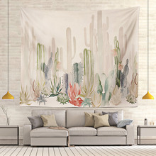 Wall Hanging Tapestry Mandala Watercolor Cactus Succulents Landscape Bohemian Hippie Cloth Tapestries Art Shawl Throw