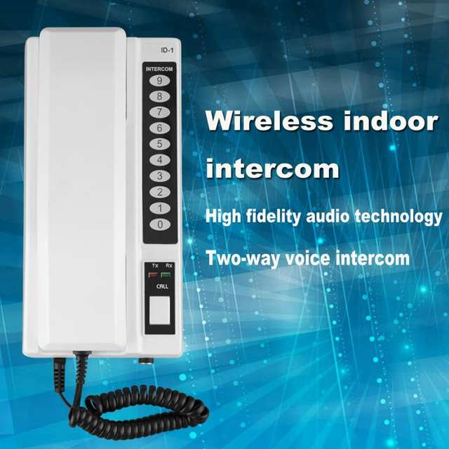 2021 Hot Wireless Intercom System / Inter-phone Handsets Extendable for Warehouse, Office, Manson home