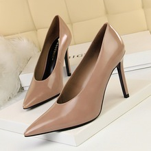 High Heels Ladies Shoes Woman Pumps Sexy Nightclub Single Basic Super (8cm-up) 34 35 36 37 38 39 40 Brown Black Red Sale