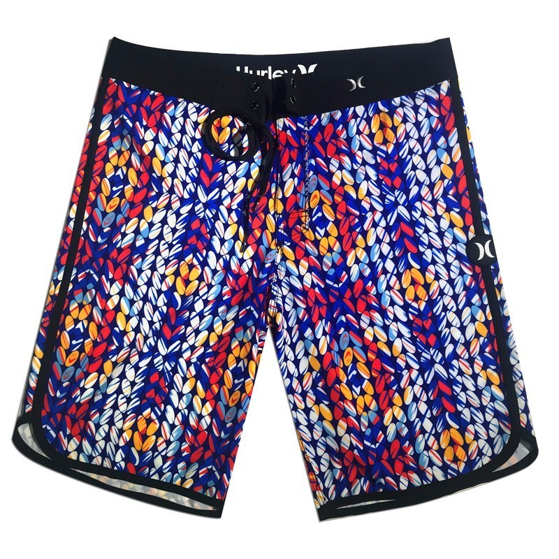 2019 New Summer Brand Mens Elastic   Board     Shorts   Quick Dry Swimwear Men Beach Bermuda Boardshorts High Quality Swimtrunks