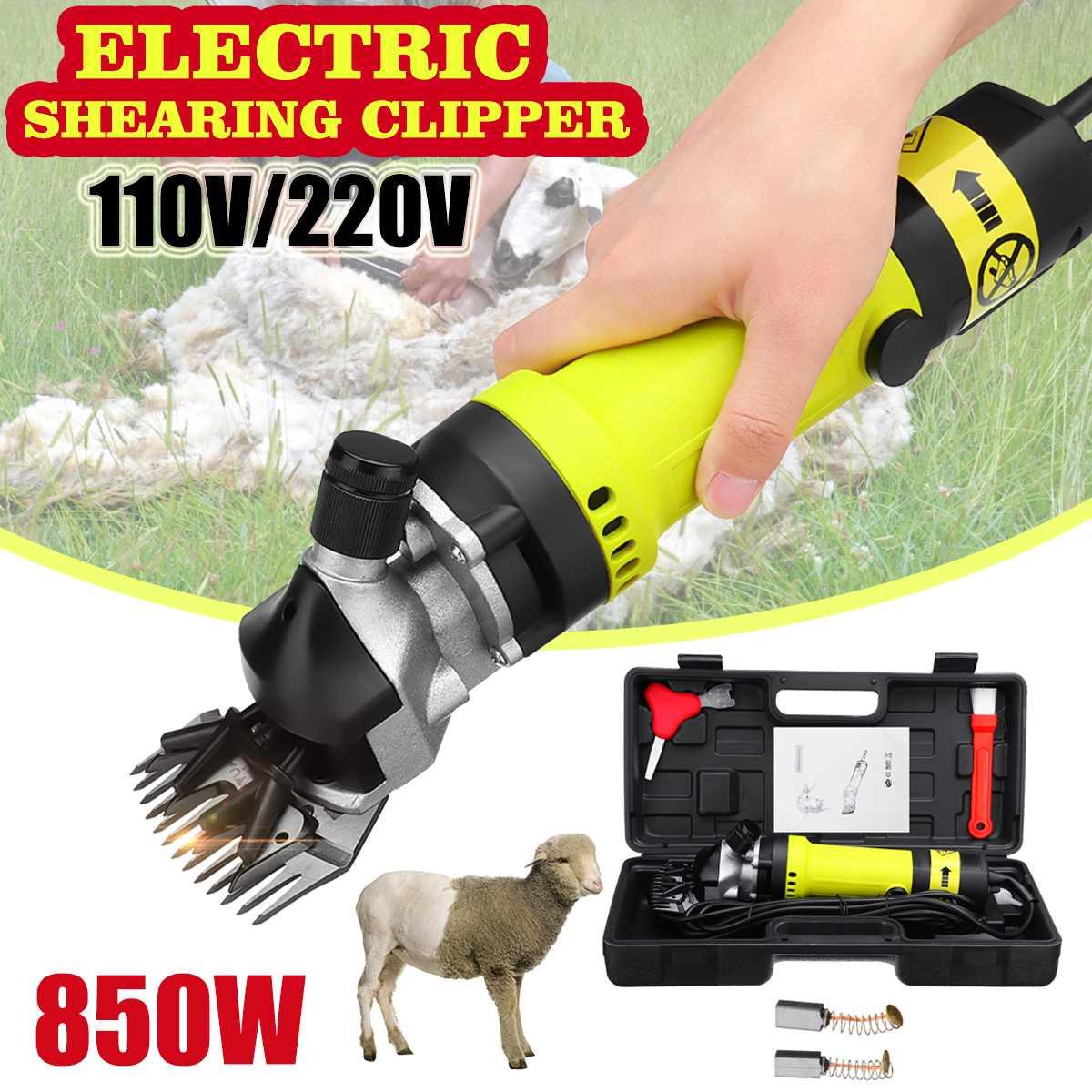US/AU Plug 850 w 110 v/220 v Réglable Vitesse Moutons Chien Pet Hair Clipper Cisaillement Animaux chèvre Ferme D'alpaga Machine Poratable w/Boîte
