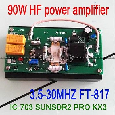 2016 90W HF Power Amplifier For FT-817 IC-703 Transceiver PRO KX3 QRP Ham Radio